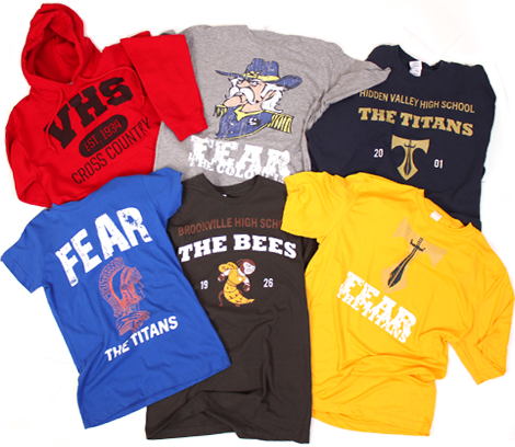 Rokkitwear t-shirts, sweatshirts, fleece, and hoodies